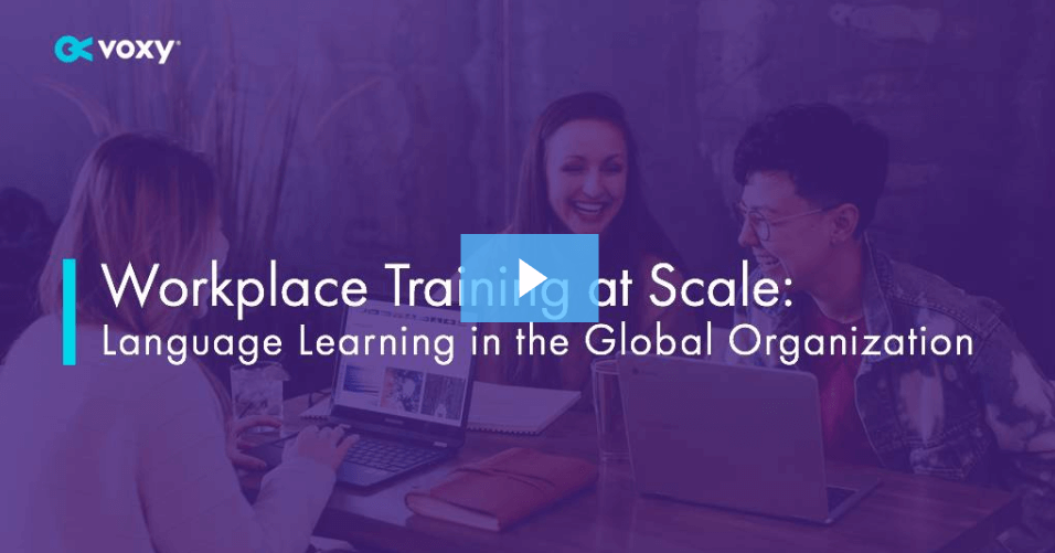 workplace language training webinar