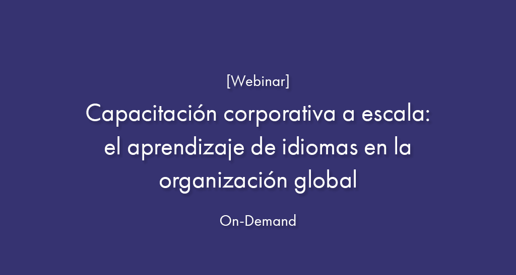 capacitación corporativa a escala