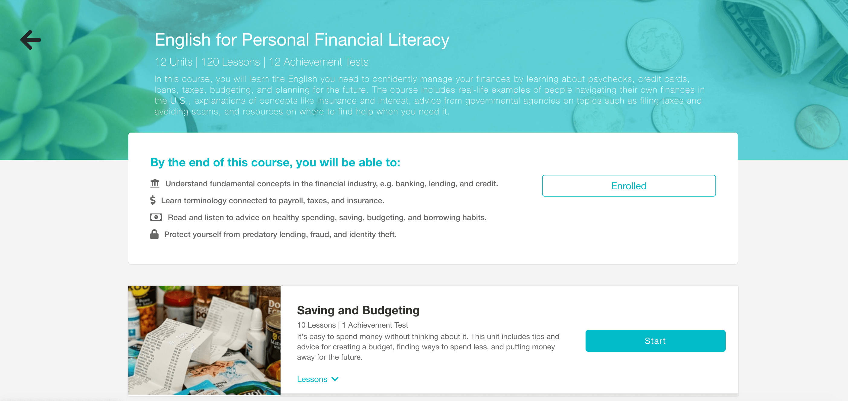 Featured Voxy Course: English for Personal Financial
