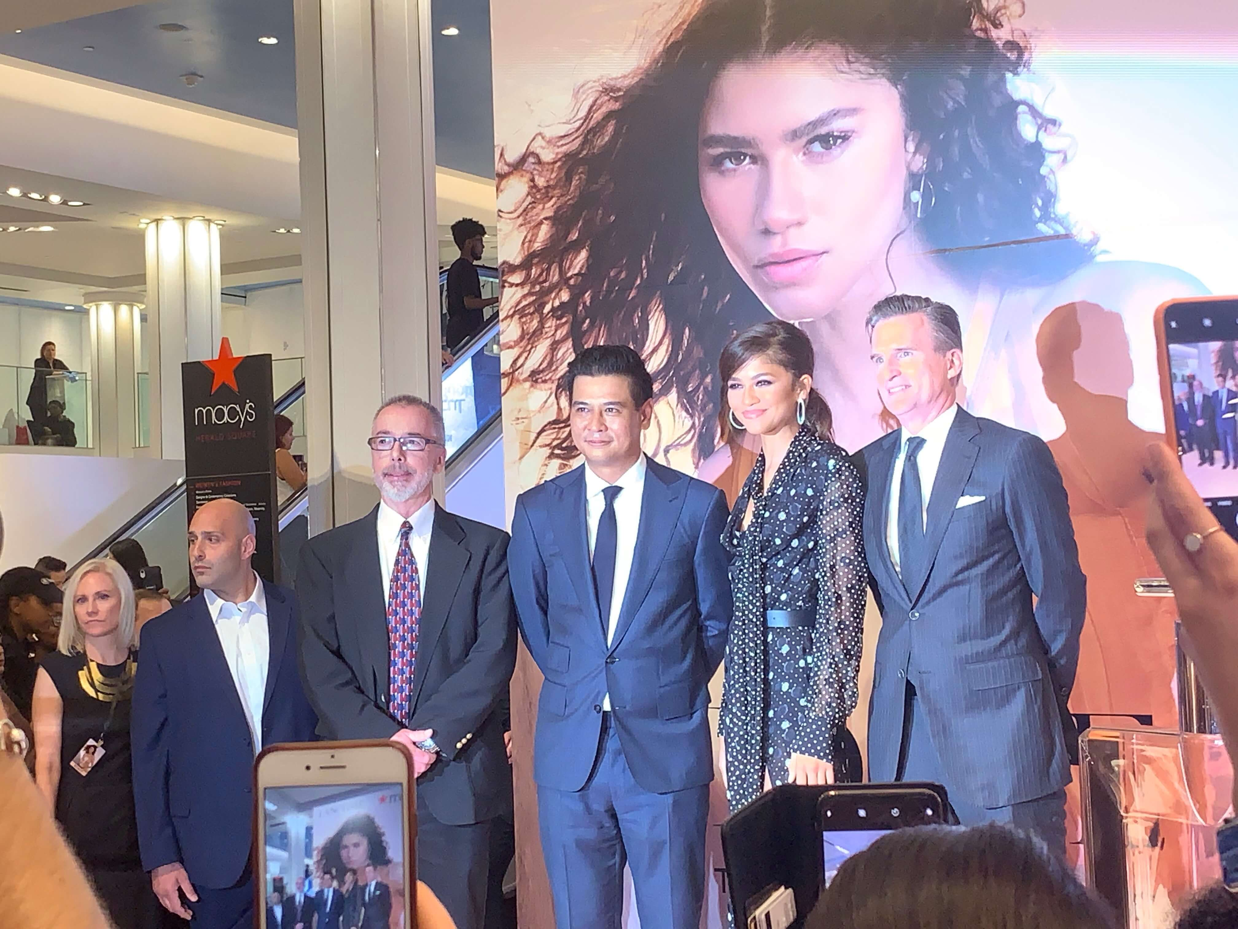 Zendaya with members of the ProLiteracy and Macy's team
